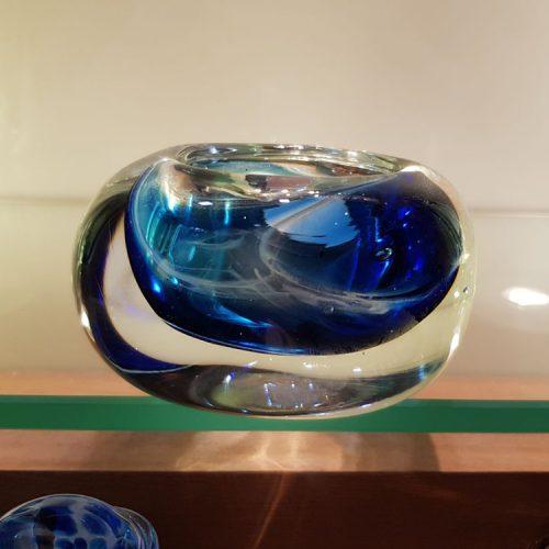 handblown glass memorial candle holder