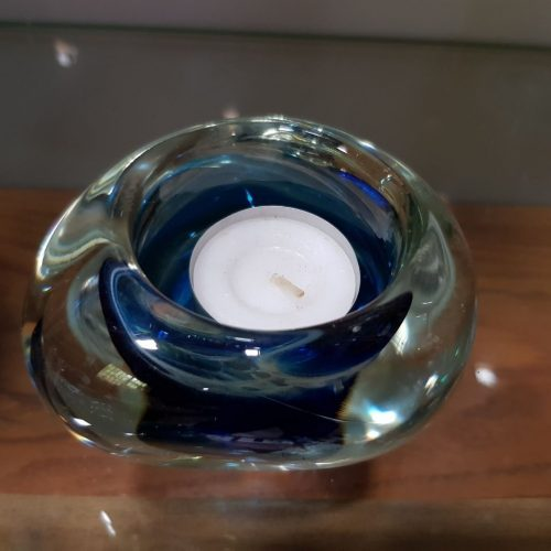 handblown glass memorial candle holder